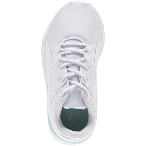 Thumbnail 5 of Adela AC Girl's Sneakers PS, Puma White-Puma White, medium
