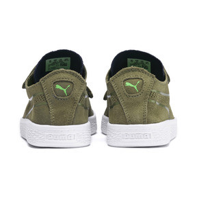 Thumbnail 3 of Suede Deconstructed Monster Kids' Trainers, Olivine-Peacoat-Irish Green, medium