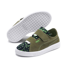 Thumbnail 2 of Suede Deconstructed Monster Kids' Trainers, Olivine-Peacoat-Irish Green, medium