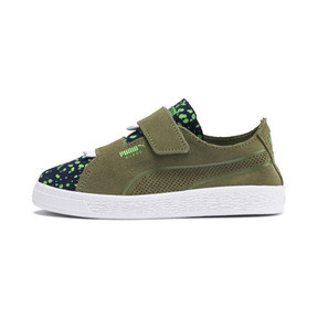 Thumbnail 1 of Suede Deconstructed Monster Kids' Trainers, Olivine-Peacoat-Irish Green, medium