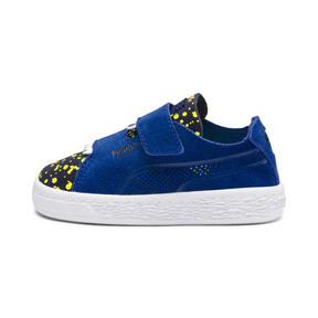 Thumbnail 1 of Suede Deconstructed Monster Kids' Trainers, Surf-Peac-Blazing Yellow, medium
