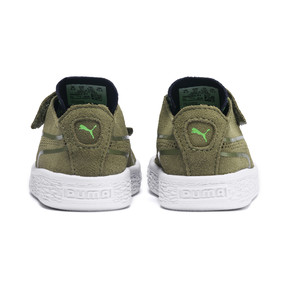 Thumbnail 3 of Suede Monster Babies' Trainers, Olivine-Peacoat-Irish Green, medium