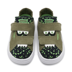 Thumbnail 7 of Suede Monster Babies' Trainers, Olivine-Peacoat-Irish Green, medium
