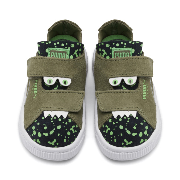 Suede Monster Babies' Trainers, Olivine-Peacoat-Irish Green, large