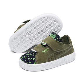 Thumbnail 2 of Suede Monster Babies' Trainers, Olivine-Peacoat-Irish Green, medium