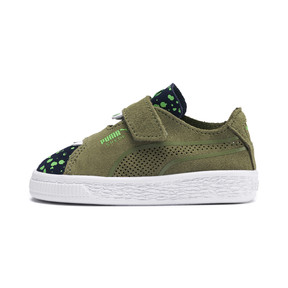 Thumbnail 1 of Suede Monster Babies' Trainers, Olivine-Peacoat-Irish Green, medium