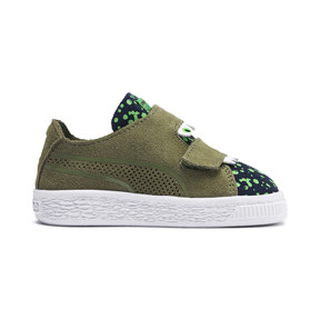 Thumbnail 5 of Suede Monster Babies' Trainers, Olivine-Peacoat-Irish Green, medium