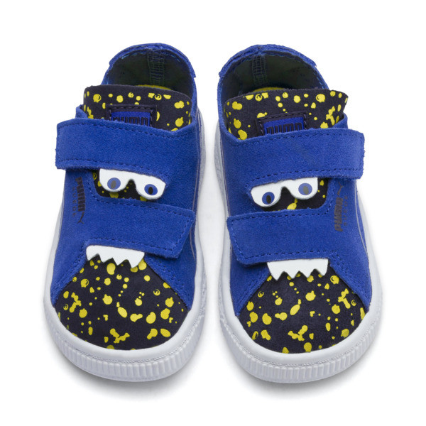 Suede Deconstruct Monster Toddler Shoes, Surf The Web-Peacoat-Yellow, large