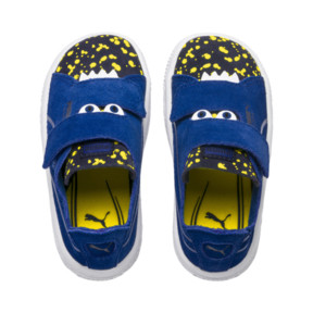 Thumbnail 6 of Suede Monster Babies' Trainers, Surf The Web-Peacoat-Yellow, medium