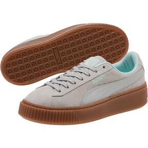 Thumbnail 2 of Suede Platform Radicals Sneakers JR, Gray Violet-Fair Aqua, medium