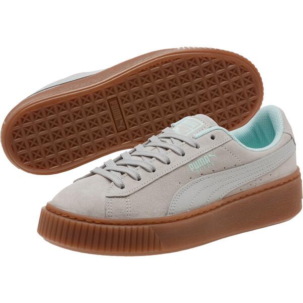 Suede Platform Radicals Sneakers JR, Gray Violet-Fair Aqua, large