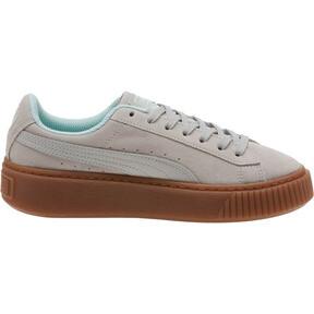 Thumbnail 3 of Suede Platform Radicals Sneakers JR, Gray Violet-Fair Aqua, medium