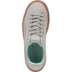 Thumbnail 5 of Suede Platform Radicals Sneakers JR, Gray Violet-Fair Aqua, medium