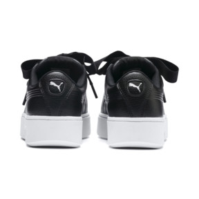 Thumbnail 4 of Vikky Stacked Ribbon Core Women's Trainers, Puma Black-Puma Black, medium