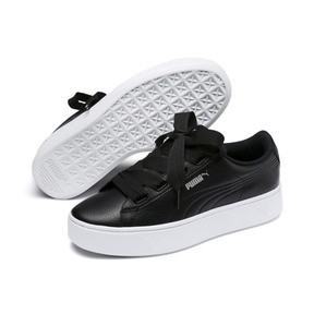 Thumbnail 2 of Vikky Stacked Ribbon Core Women's Trainers, Puma Black-Puma Black, medium