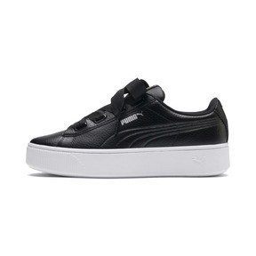 Thumbnail 1 of Vikky Stacked Ribbon Core Women's Trainers, Puma Black-Puma Black, medium