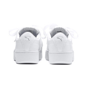 Thumbnail 3 of PUMA Vikky Stacked Ribbon Core Women's Sneakers, Puma White-Puma White, medium