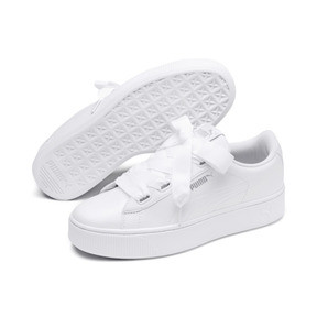 Thumbnail 2 of PUMA Vikky Stacked Ribbon Core Women's Sneakers, Puma White-Puma White, medium
