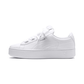 Thumbnail 1 of Vikky Stacked Ribbon Core Women's Trainers, Puma White-Puma White, medium