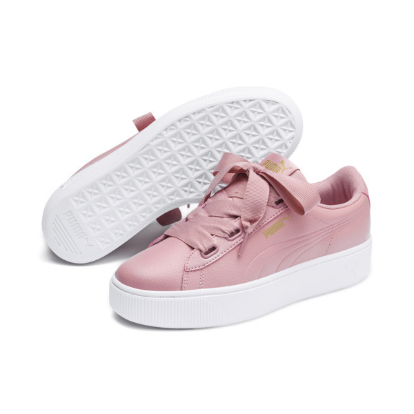 PUMA Vikky Stacked Ribbon Core Women's Sneakers, Bridal Rose-Bridal Rose, large