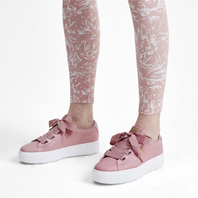 Thumbnail 3 of PUMA Vikky Stacked Ribbon Core Women's Sneakers, Bridal Rose-Bridal Rose, medium