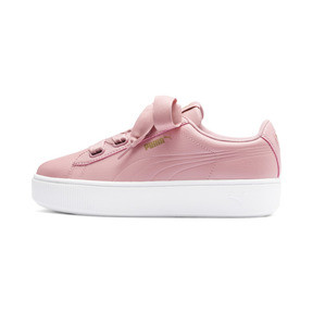 Thumbnail 1 of PUMA Vikky Stacked Ribbon Core Women's Sneakers, Bridal Rose-Bridal Rose, medium