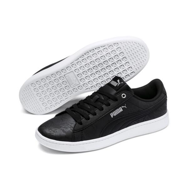 PUMA Vikky v2 Summer Women's Sneakers, Puma Black-Silver-Puma White, large