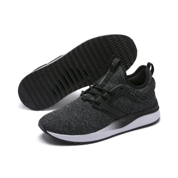 Pacer Next Excel VariKnit Sneakers, Puma Black-Charcoal Gray, large