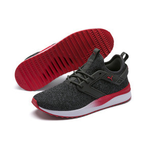 Thumbnail 2 of Pacer Next Excel VariKnit Sneakers, Dark Shadow-High Risk Red, medium