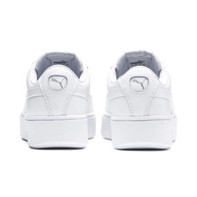 Thumbnail 3 of PUMA Vikky Stacked Women's Trainers, Puma White-Puma White, medium