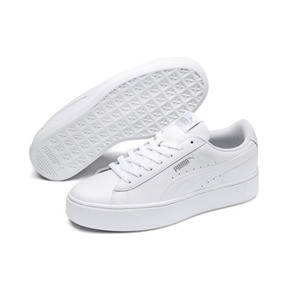 Thumbnail 2 of PUMA Vikky Stacked Women's Trainers, Puma White-Puma White, medium