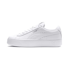 Thumbnail 1 of PUMA Vikky Stacked Women's Trainers, Puma White-Puma White, medium