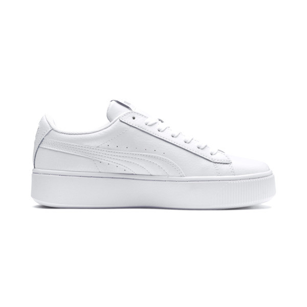 PUMA Vikky Stacked Women's Trainers, Puma White-Puma White, large