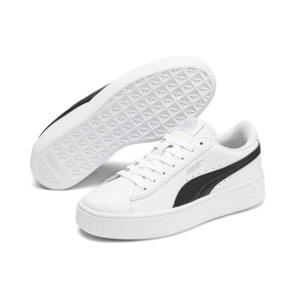 PUMA Vikky Stacked sneakers voor vrouwen, Puma wit-Puma zwart, large