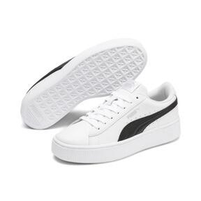 Thumbnail 3 of PUMA Vikky Stacked Women's Sneakers, Puma White-Puma Black, medium