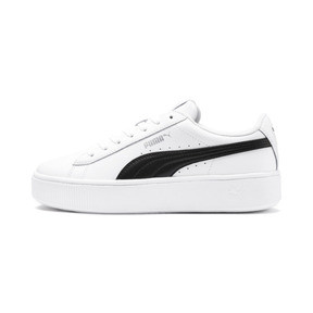 Thumbnail 1 of PUMA Vikky Stacked Women's Sneakers, Puma White-Puma Black, medium