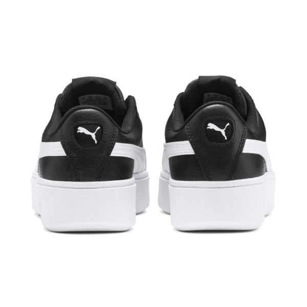 PUMA Vikky Stacked Women's Trainers, Puma Black-Puma White, large