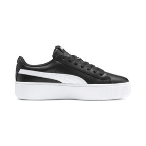 Thumbnail 5 of PUMA Vikky Stacked Women's Trainers, Puma Black-Puma White, medium