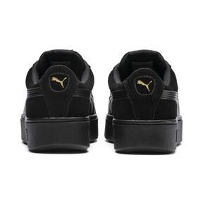 Thumbnail 3 of PUMA Vikky Stacked Suede Women's Sneakers, Puma Black-Puma Black, medium