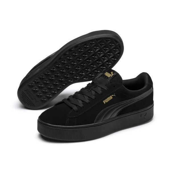 Vikky Stacked Damen Sneaker, Puma Black-Puma Black, large