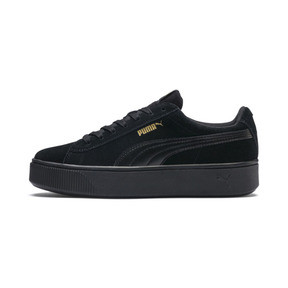 Thumbnail 1 of PUMA Vikky Stacked Suede Women's Sneakers, Puma Black-Puma Black, medium