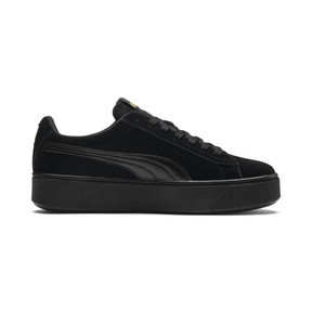 Thumbnail 5 of PUMA Vikky Stacked Women's Trainers, Puma Black-Puma Black, medium