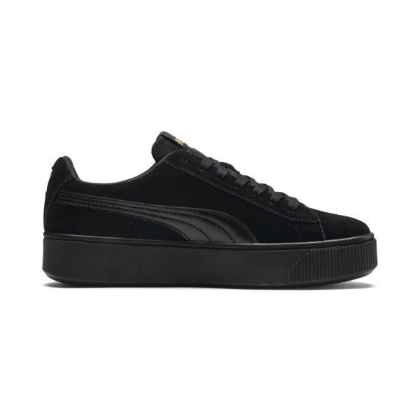 PUMA Vikky Stacked Women's Trainers, Puma Black-Puma Black, large