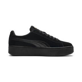Thumbnail 5 of PUMA Vikky Stacked Suede Women's Sneakers, Puma Black-Puma Black, medium