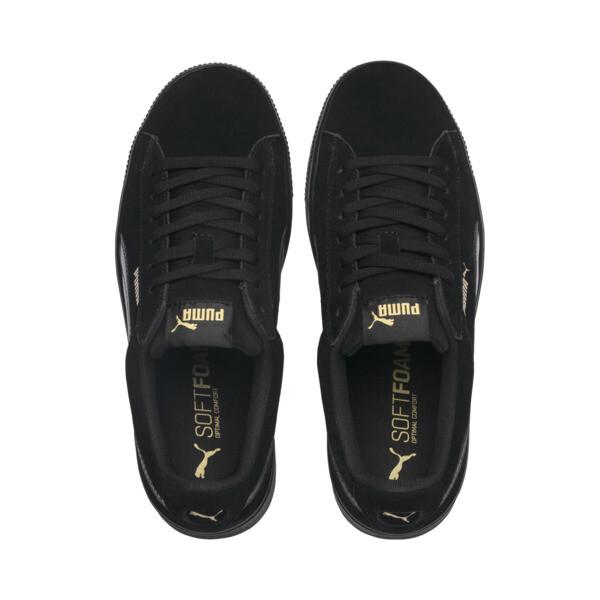 PUMA Vikky Stacked Suede Women's Sneakers, Puma Black-Puma Black, large