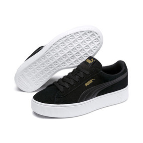 Thumbnail 2 of PUMA Vikky Stacked Women's Trainers, Puma Black-Black- White, medium