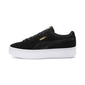 Thumbnail 1 of PUMA Vikky Stacked Women's Trainers, Puma Black-Black- White, medium