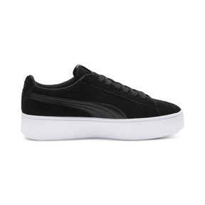 Thumbnail 5 of PUMA Vikky Stacked Women's Trainers, Puma Black-Black- White, medium