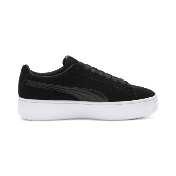 PUMA Vikky Stacked Women's Trainers, Puma Black-Black- White, large