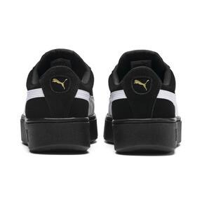 Thumbnail 3 of PUMA Vikky Stacked Suede Women's Sneakers, Puma Black-Puma White, medium